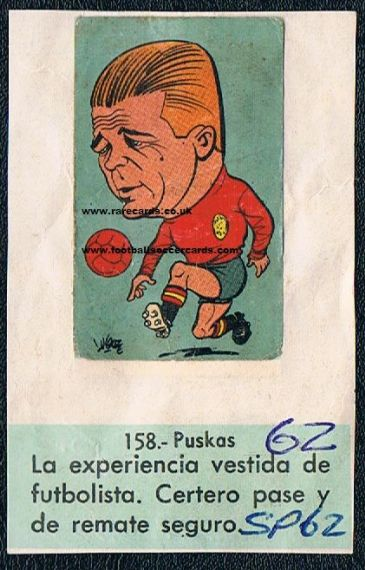 1962 LQL Chile World Cup Puskas